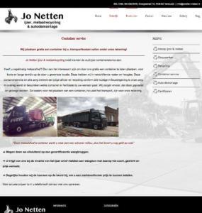 Containerservice Jo netten metaal