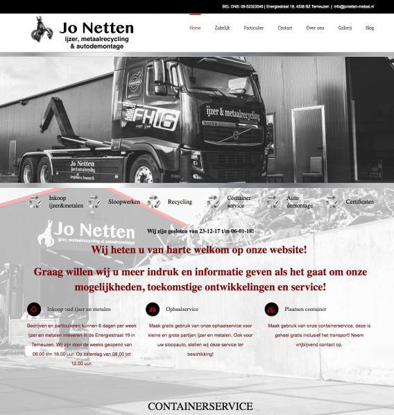 Website Jo Netten Metaal